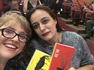 Com a editora Tatiana Kelly, Confraria do Vento